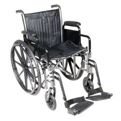 McKesson - Wheelchair Desk Length Removable Arm - 18 Inch Seat - 300 lb Capacity