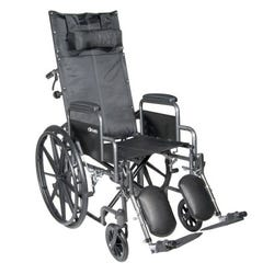 McKesson - Reclining Wheelchair, Removable Desk Length Arm, Mag Wheel - 300 lb Capacity