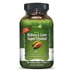 Irwin Naturals - 2-in-1 Kidney & Liver Super Cleanse - 60 Capsules