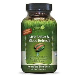 Irwin Naturals - Liver Detox & Blood Refresh - 60 Capsules
