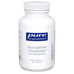Pure Encapsulations Glucosamine and Chondroitin with Manganese 120 Capsules